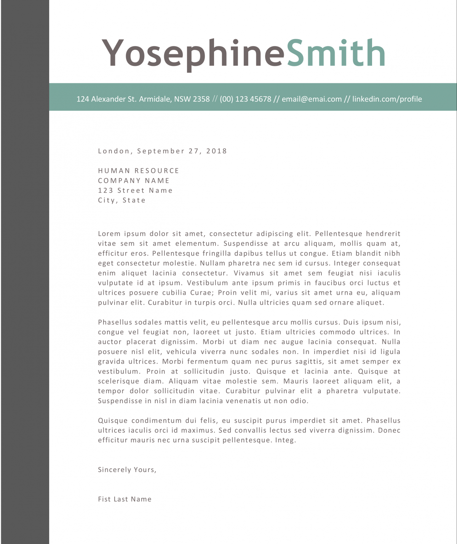 Cover letter for dummy