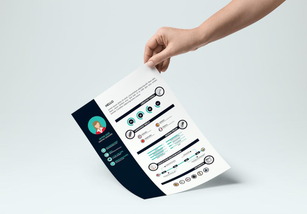 free download infographic resume for designer