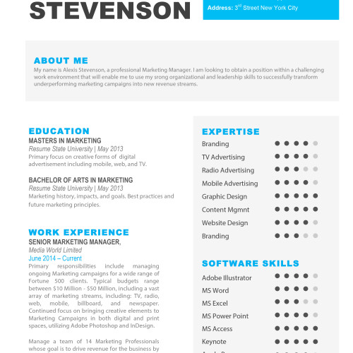 The Alexis Resume 1  Resume Templates For Mac Pages
