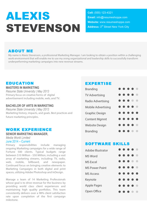 resume templates for mac  word   u0026 apple pages  instant