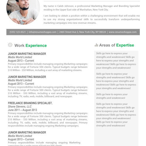 Creative Resume Templates  Secure The JobResumeshoppe