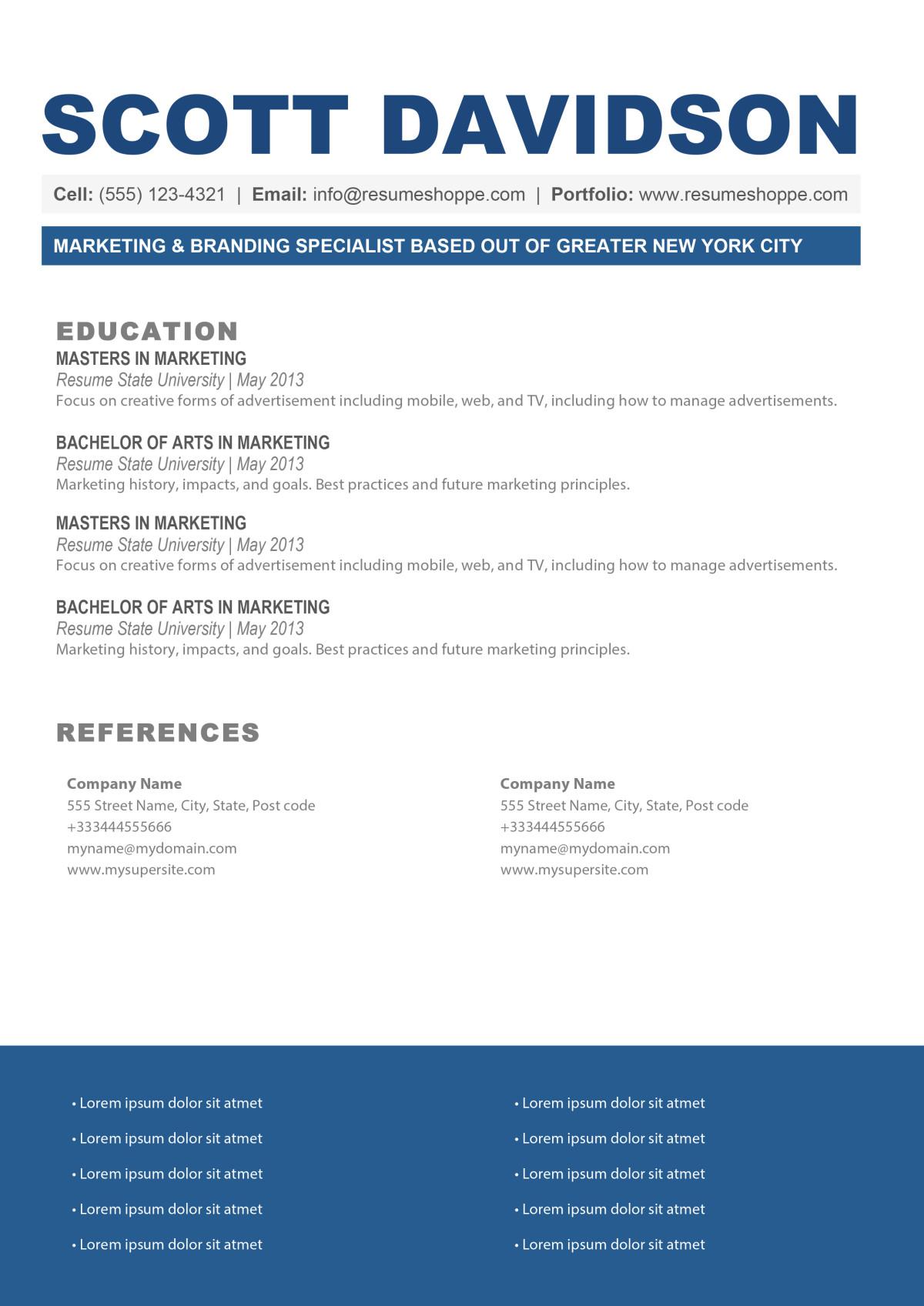 the scott resume