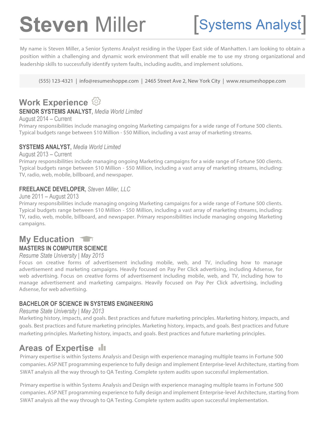 The Steven Resume  Creative Resume