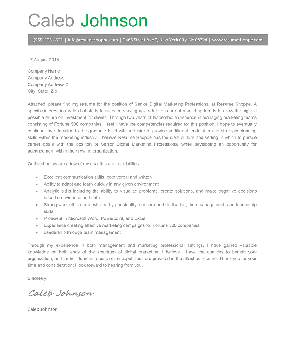 the caleb cover letter template resume shoppe