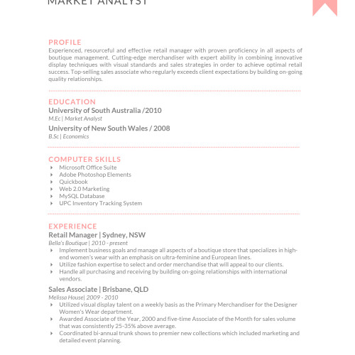 Market Analyst Resume Templates (September, 2019) - Examples