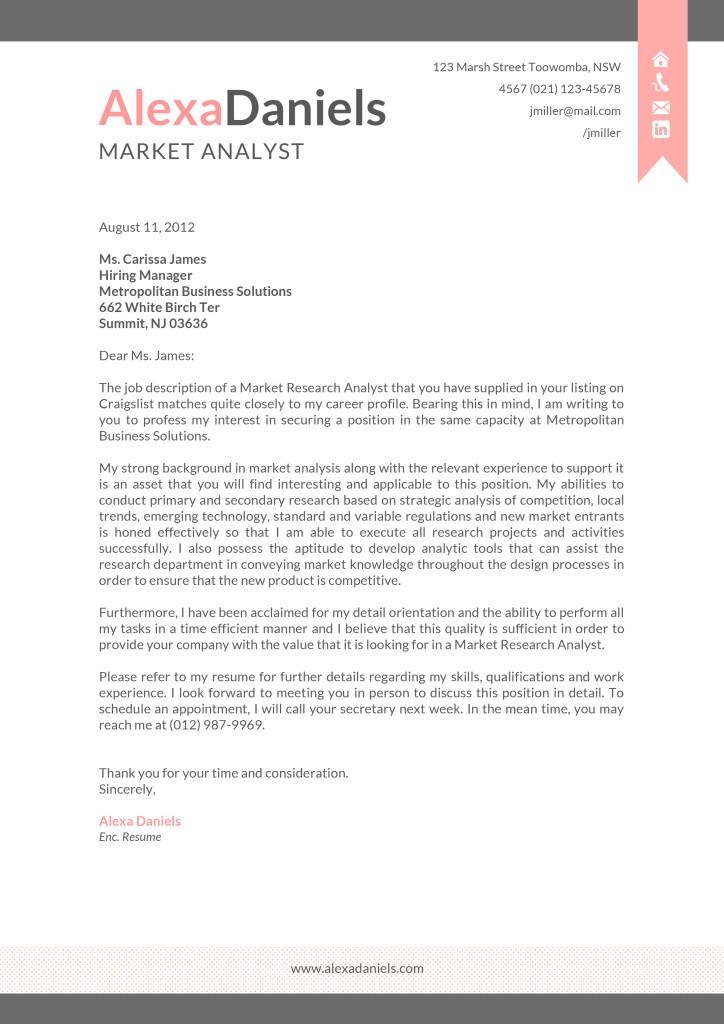 the alexa cover letter