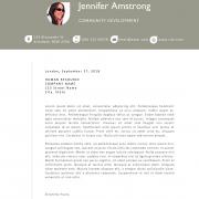 the jennifer cover letter