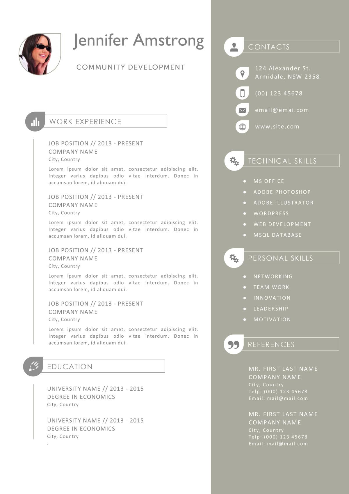 the jennifer resume