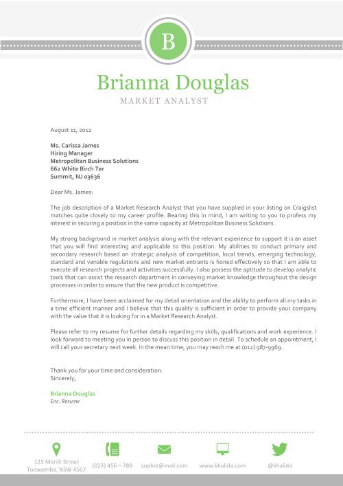 Brianna Douglas Cover letter