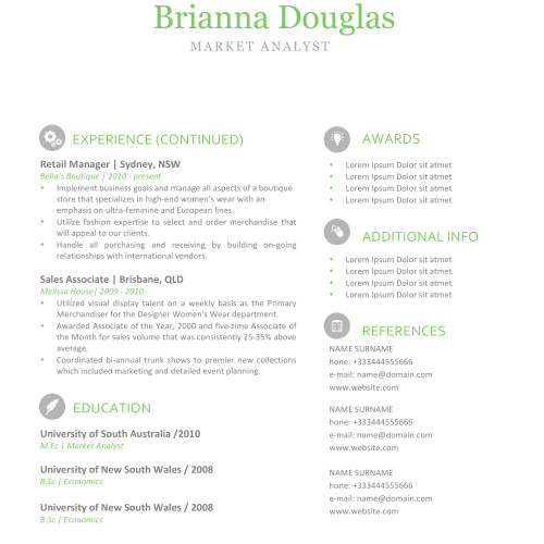 Resume Template Pages. This Template Is Inspired In An Elegant