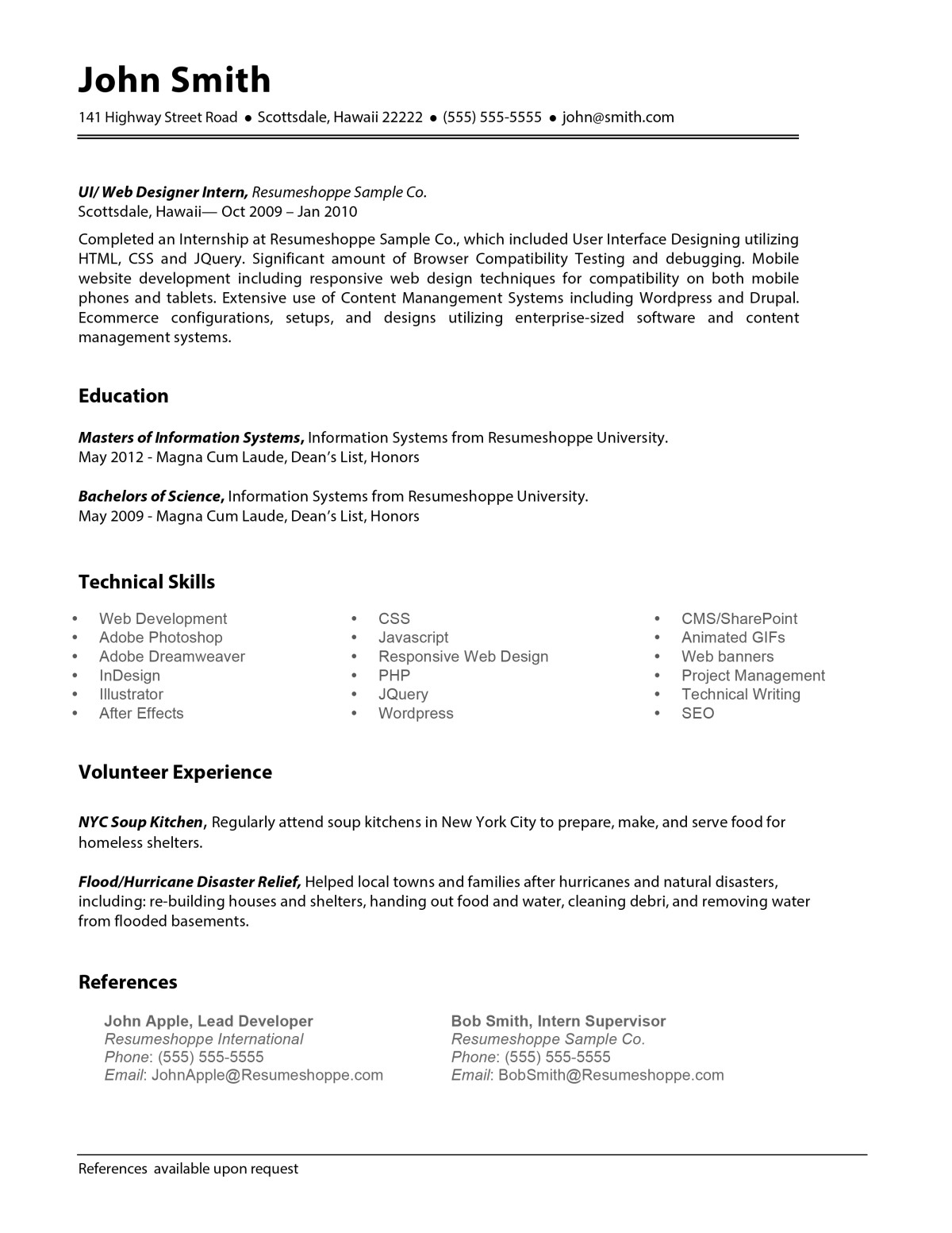 The John Resume Crafted For Your Next Career Step
