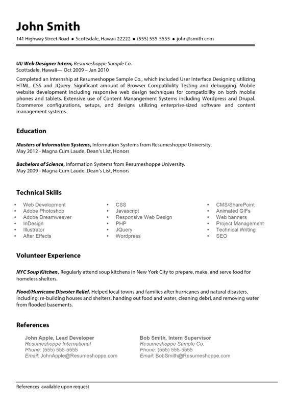 The John Resume  Crafted for your
