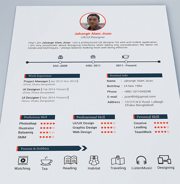 creative resume jahangir alam jisan - Most Professional Resume
