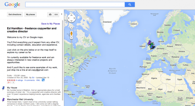 google maps work example