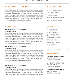 Alicia Resume Template