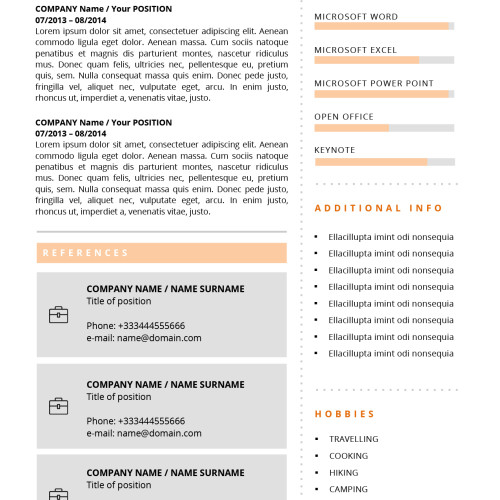 second page cv