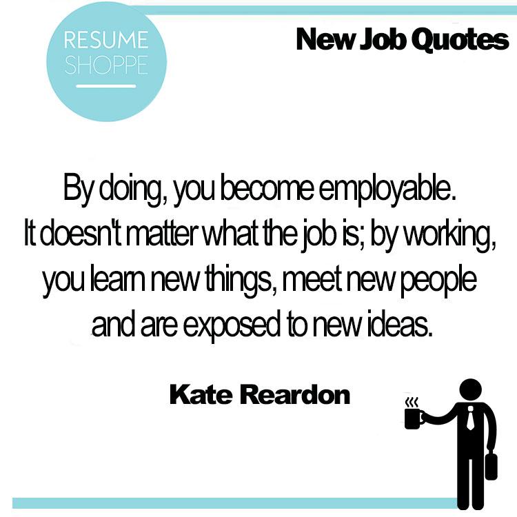 resume for new job