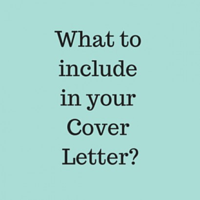 What to include in Cover Letter