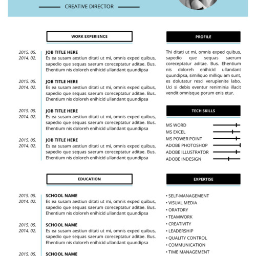 abby resume template - Microsoft Resume Template