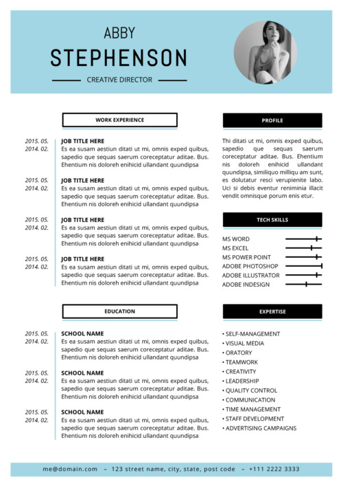 Abby Resume Template  Resume Template Pages