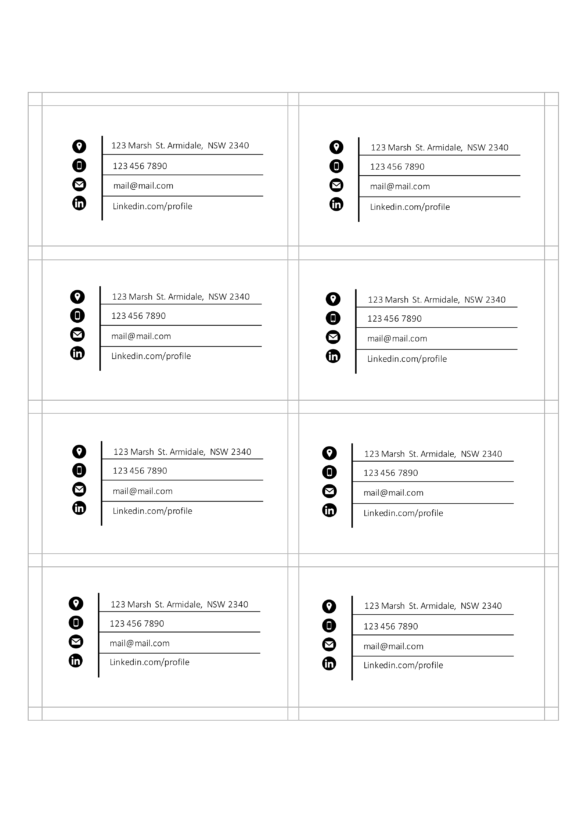 business card template included
