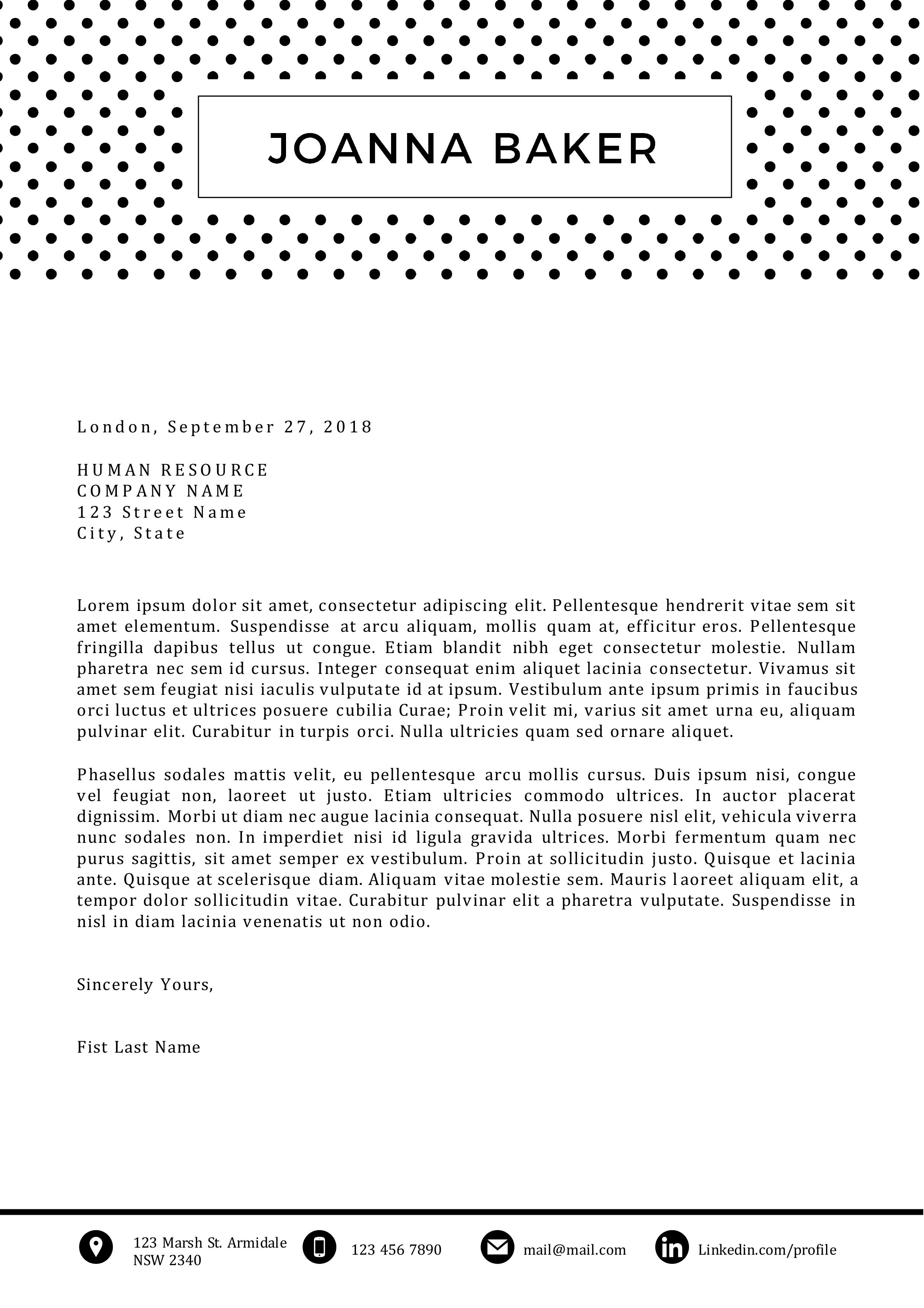 Joanna Baker Cover Letter ...
