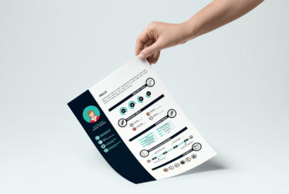 free download infographic resume for designer