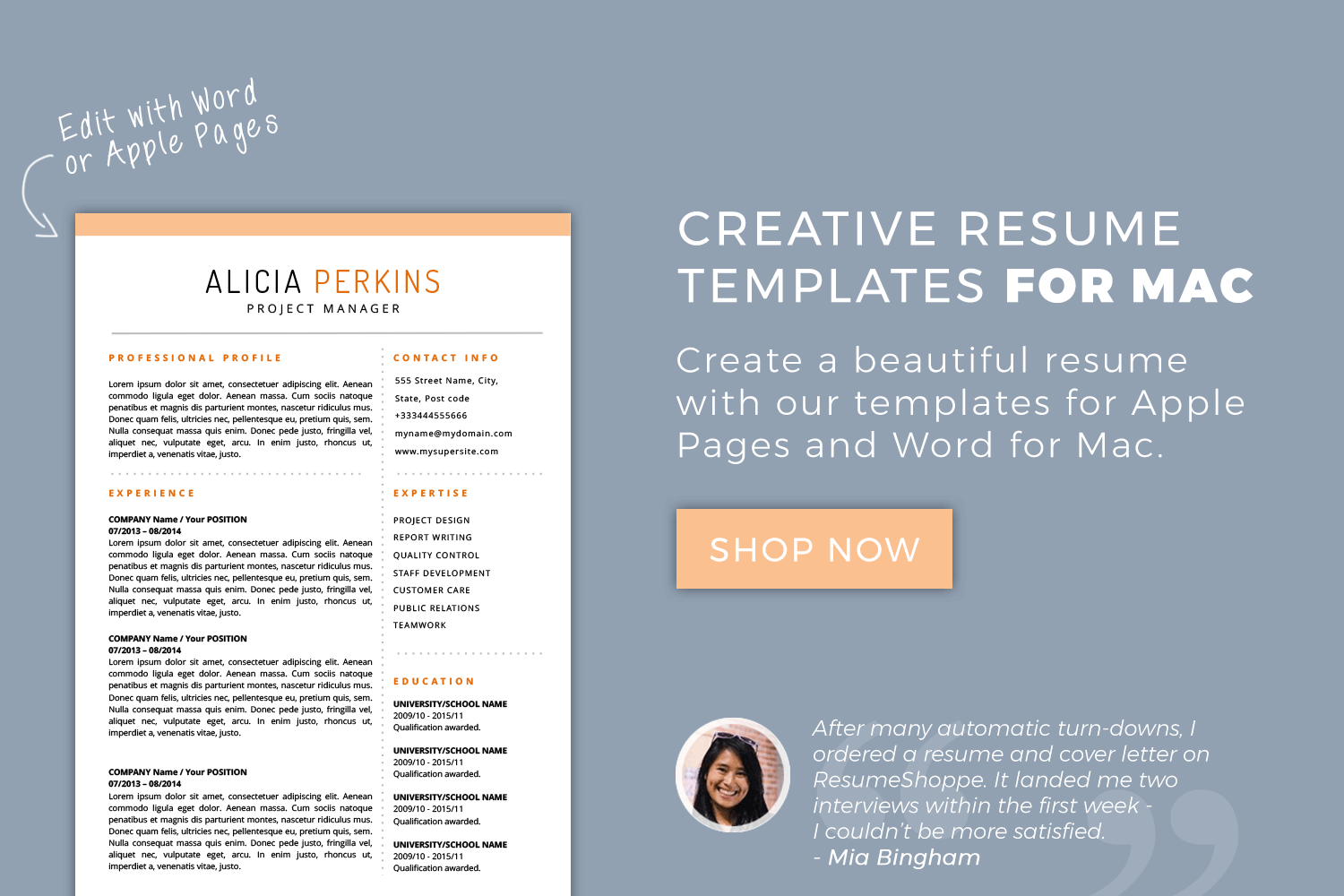 Pages Resume Templates Mac  BasilosaurUs