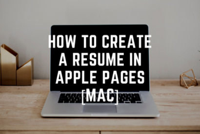 use apple pages to create simple resume template