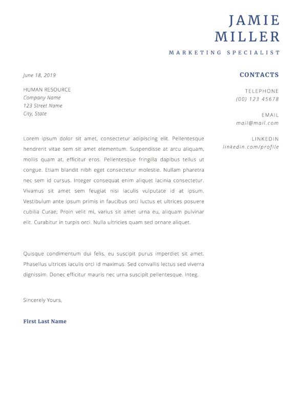 marketing cover letter