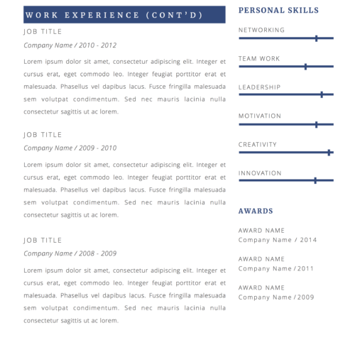 simple marketing resume