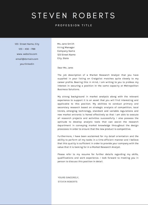 Steven-Roberts-Cover-A4-580x800 Job Application Cover Letter Contents on for practice management, template for senior, for academic, for real or potential,