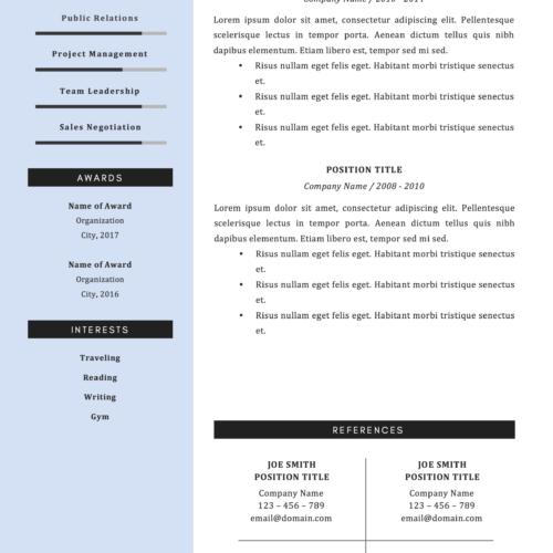 modern steven roberts resume template